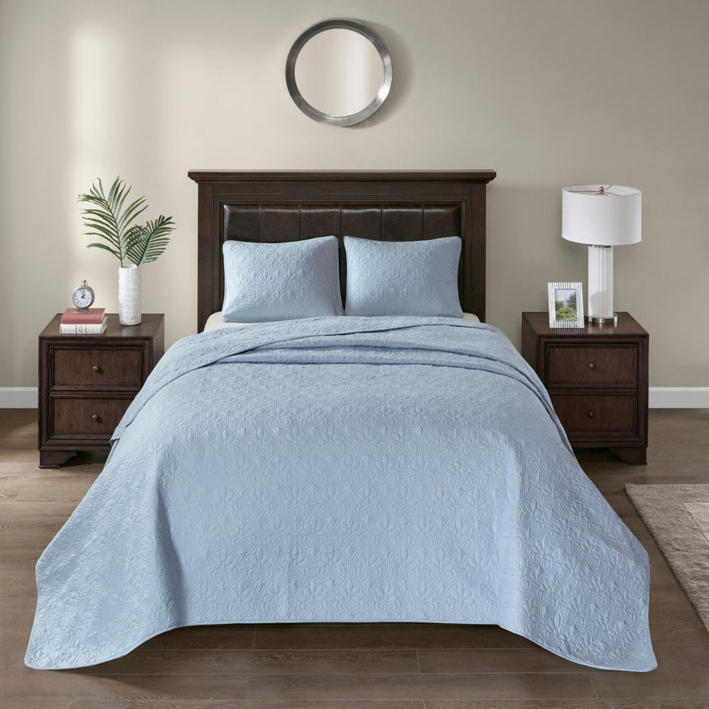 Oversized Bedspread Floor Set Medium Tone Bedding Drops Over Edge Beds Polyester Stylish Classic Stitched