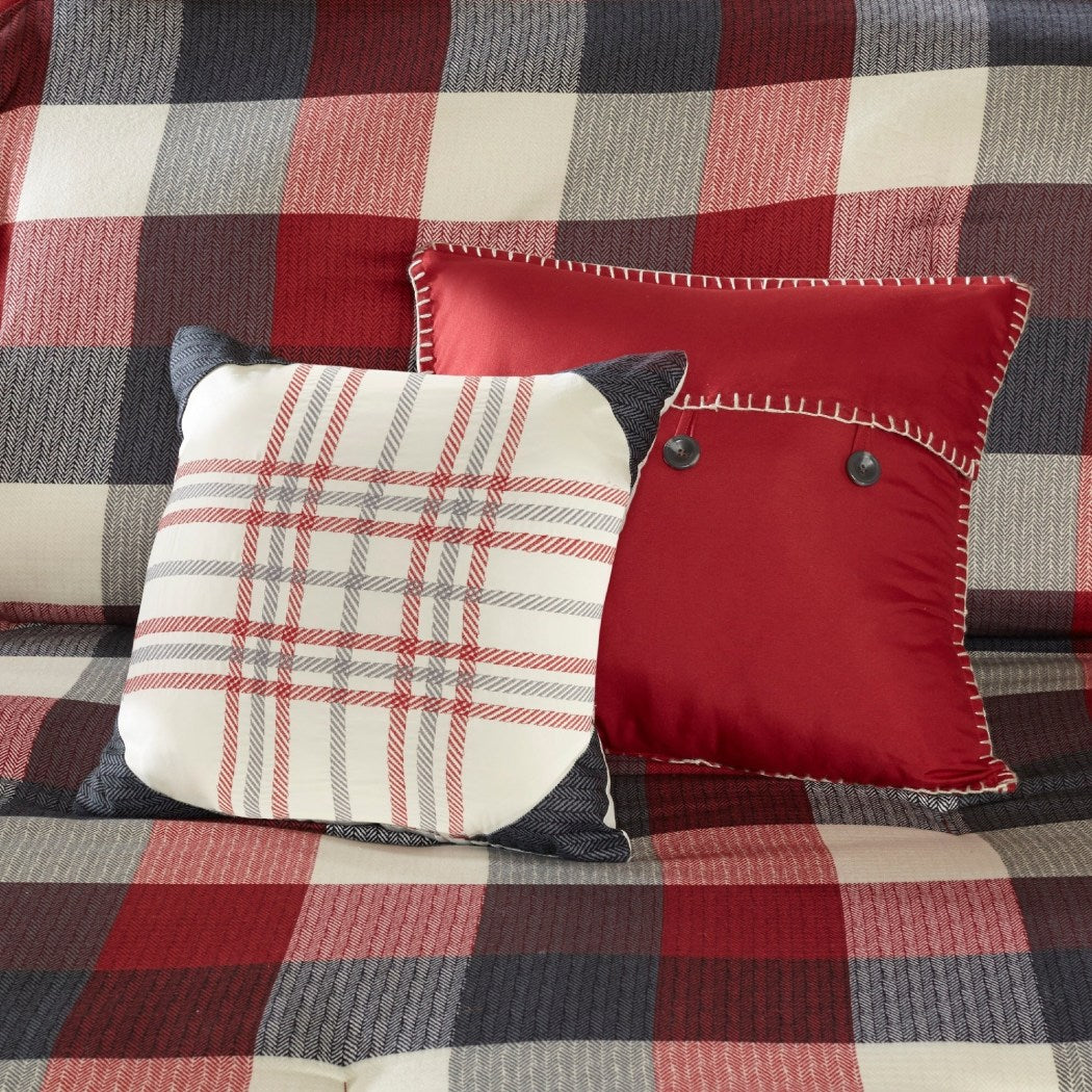 Plaid Duvet Cover Set Cabin Theme Striped Bedding Ljack Pattern Rugby Stripes Horizontal Vertical Stripe Lake House Cottage