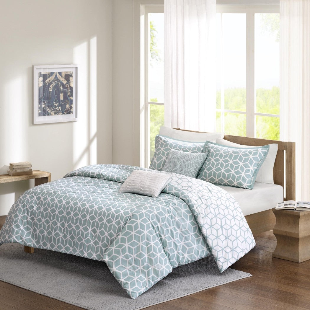 D Geometric Themed Comforter Set High End Textural Pattern D Inspired Tufted Adorable Texture Design Bedding Pretty White