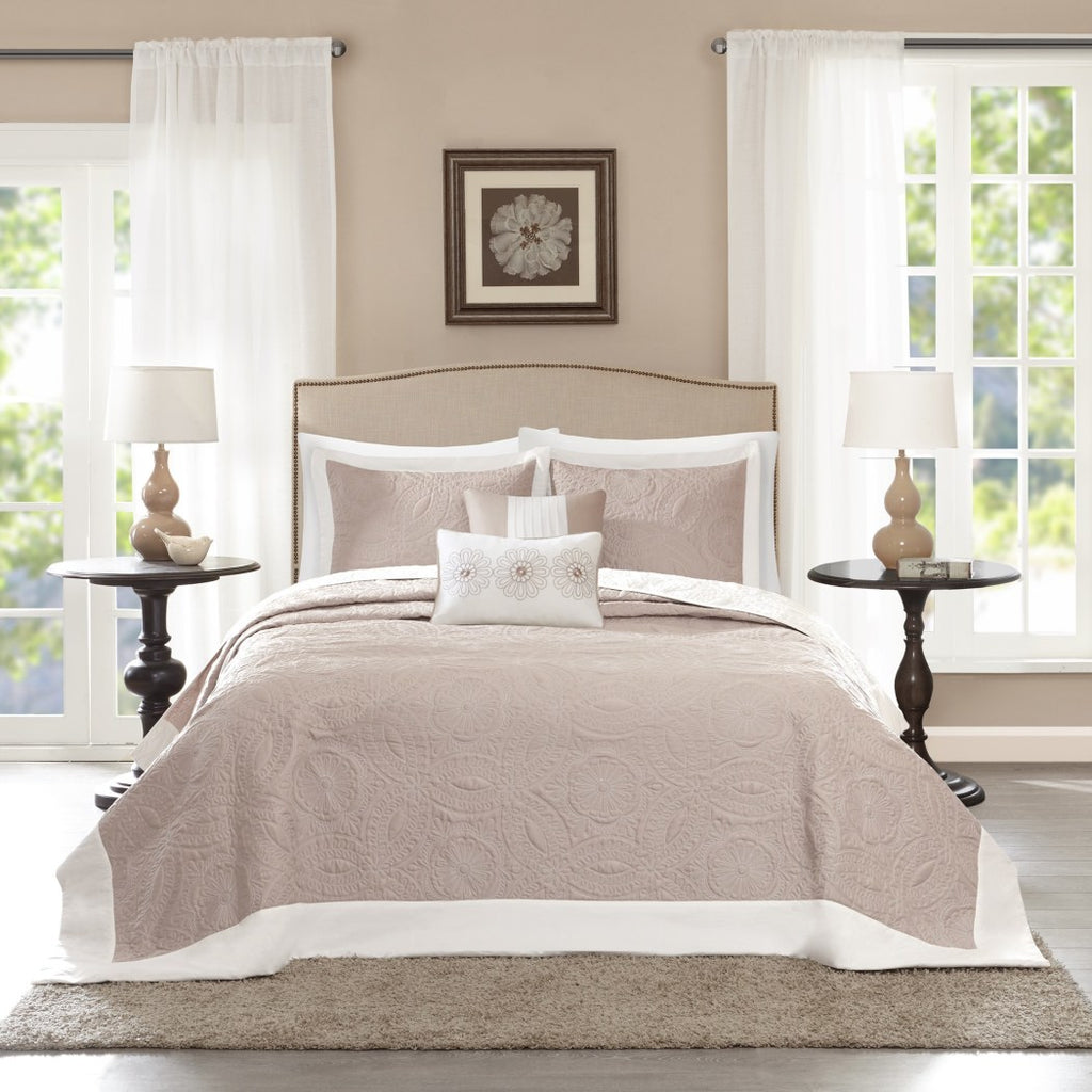 Oversized Bedspread Floor Extra Long Floral Bedding Extra Wide Drops Over Edge Frame Drapes Down Sides Hangs Over Bed Touches