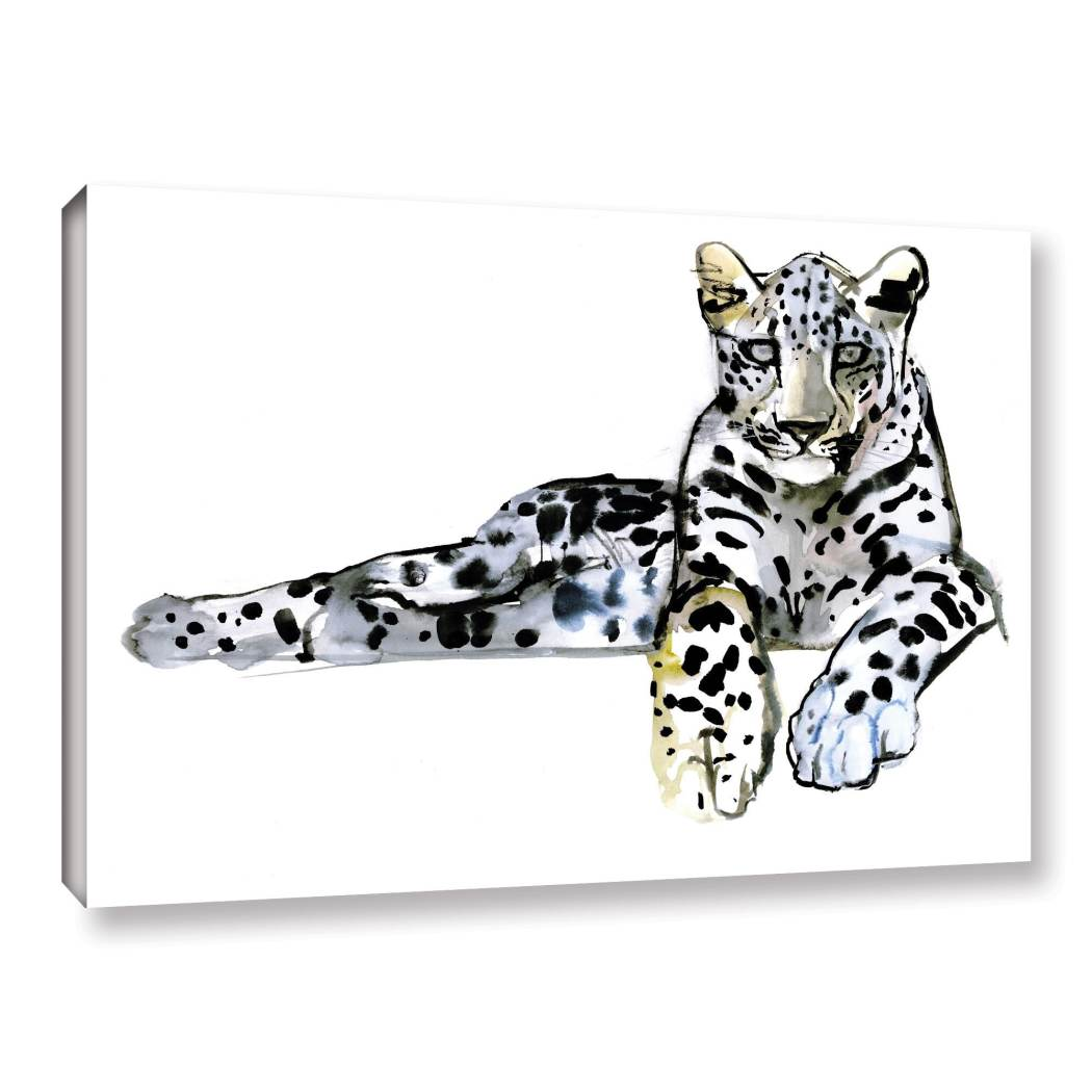 Leopard Pattern Wall Art Rectangle Cheetah Themed Hanging Picture African Wild Jungle Cat Animal Wood Plaque Geometric