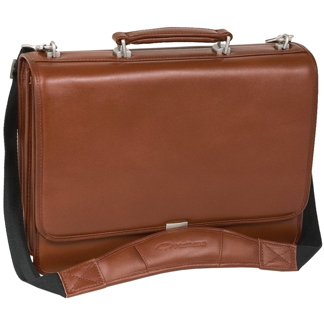 Brown Leather Compartment Lawyers Briefcase Brown Color Amazing Leather Laptop Briefcase Latest Design Solid Pattern Laptop Compartment Locking - Diamond Home USA