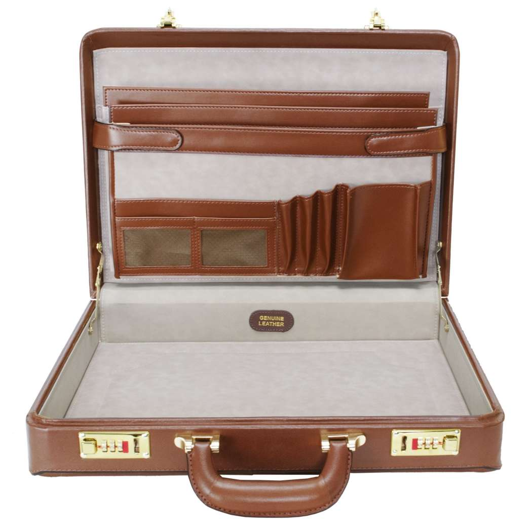 Pure Leather Attaché Lawyer Briefcase Amazing Stylish Modern Design Pattern Latest Locking Mechanism