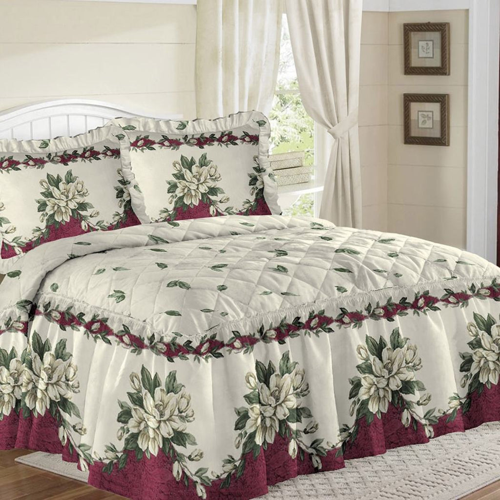 Oversized Off Bedspread Floor Extra Long Floral Bedding tra Wide Drops Over Edge Frame Drapes Down Sides Hangs Over Bed