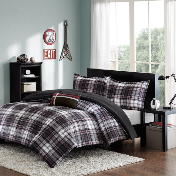 Comforter Bed Set Plaid Teen Bedding Bedspread Pillow Update Home Decor
