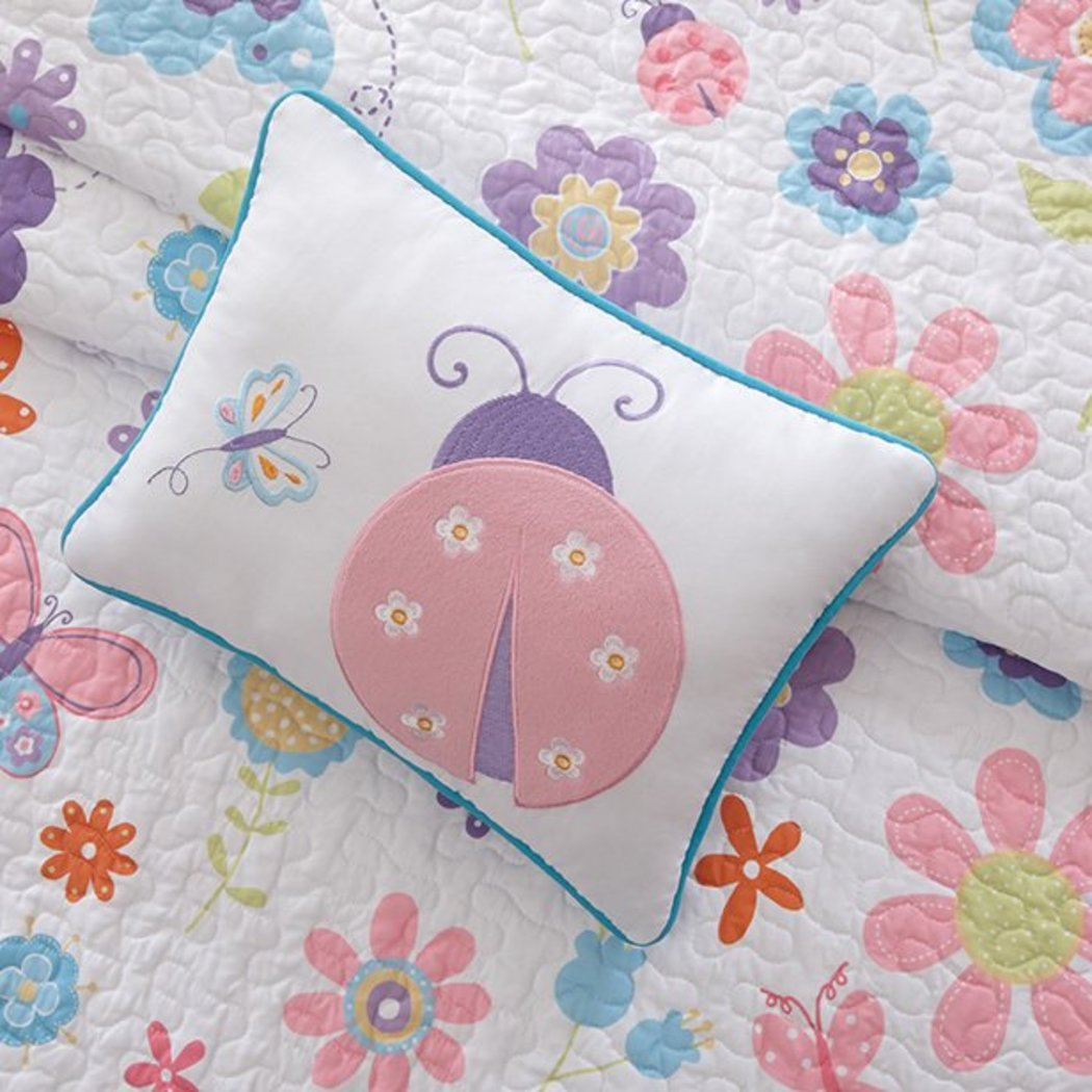 Kids Butterfly Themed Coverlet Set Microfiber Sheet Flowers Butterflies Ladybugs Bedding Cute Animal Floral Bed In A Bag