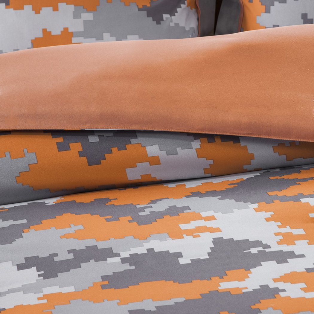 Kids Boys Camouflage Comforter Set Army Camo Bedding Military Pattern Abstract Helicopter Pillow Teen Childrens Polyester