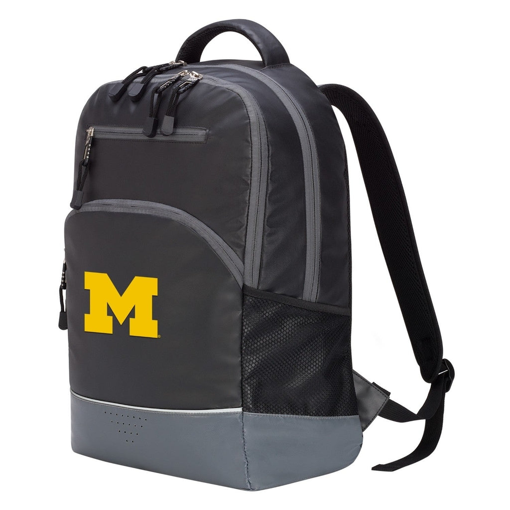 Michigan Wolverines Alliance Backpack Black Nylon - Diamond Home USA