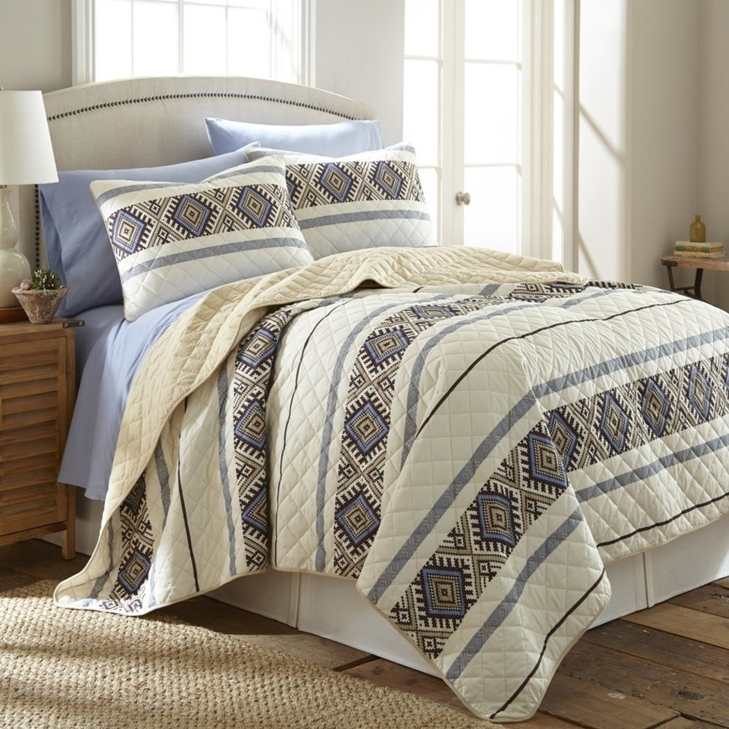 Native American Quilt Set Off Southwest Bedding Log Cabin Lodge Cottage Summer Lightweight Southwestern