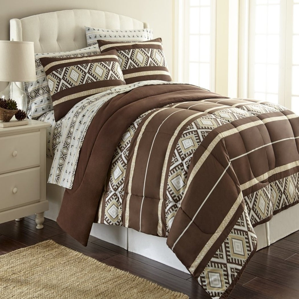 Native American Comforter Set Bohemian Indian Themed Tribal Motif Aztec Pattern Bedding Southwest Stripes Southwestern Polyester