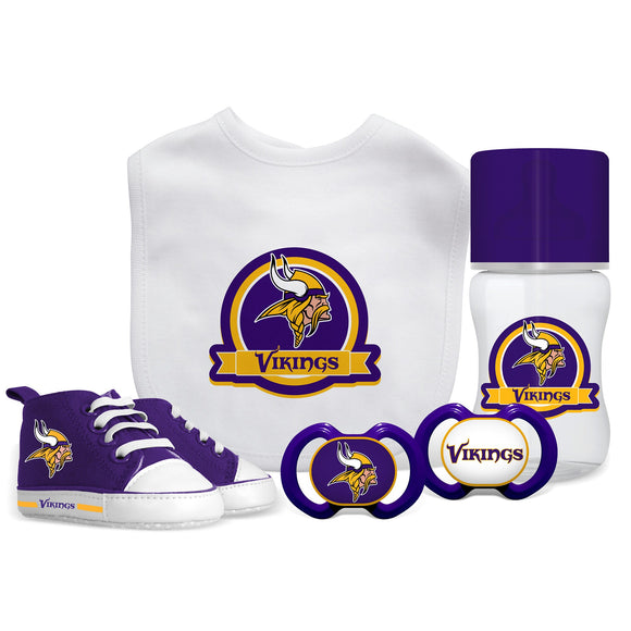 Minnesota Vikings 5 Pc Infant Gift Set - Diamond Home USA