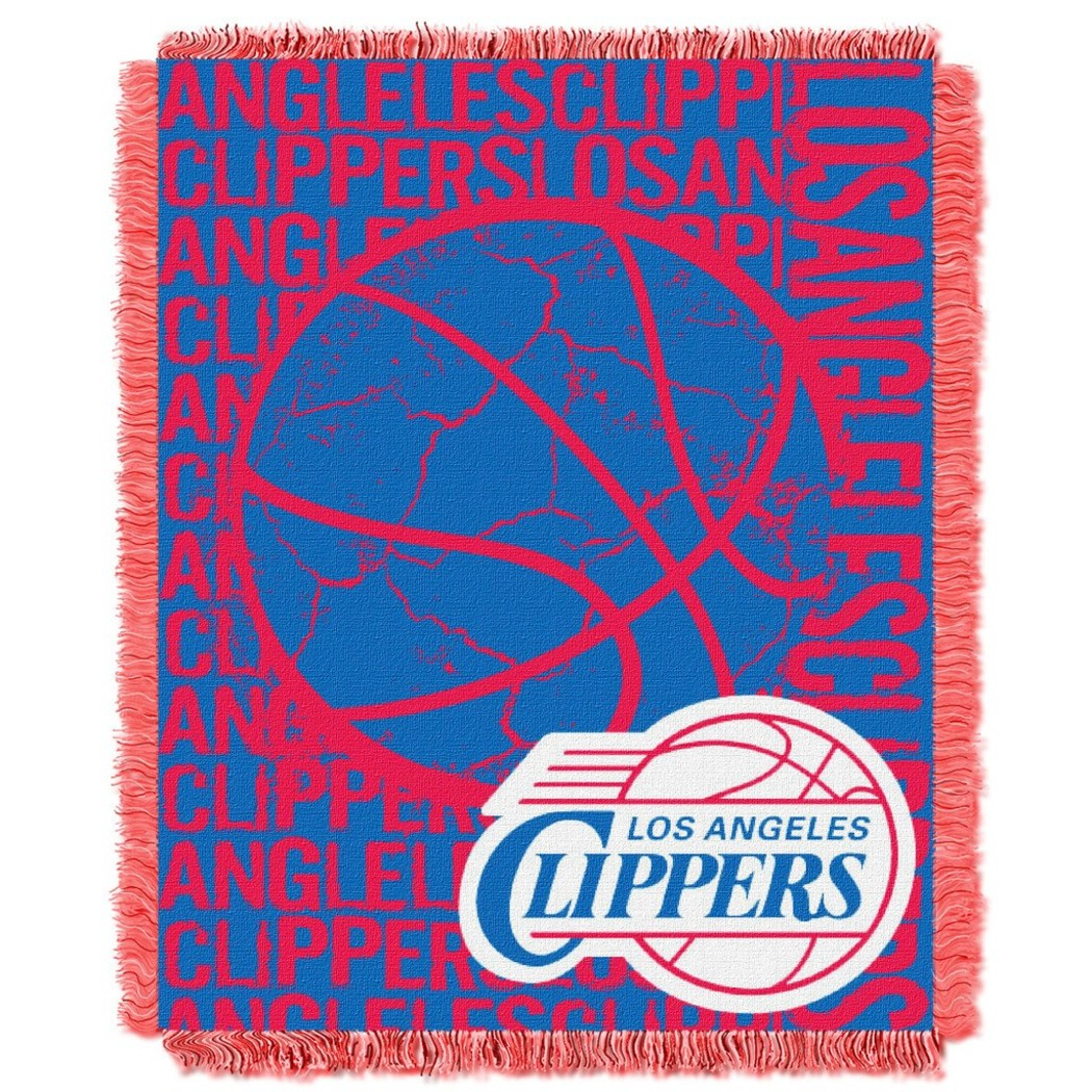 NBA Los Angeles Clippers Throw Blanket 46x60 Red Blue Black Silver White Sports & Collegiate Pattern Acrylic Soft Touch Team Logo Sports Themed - Diamond Home USA