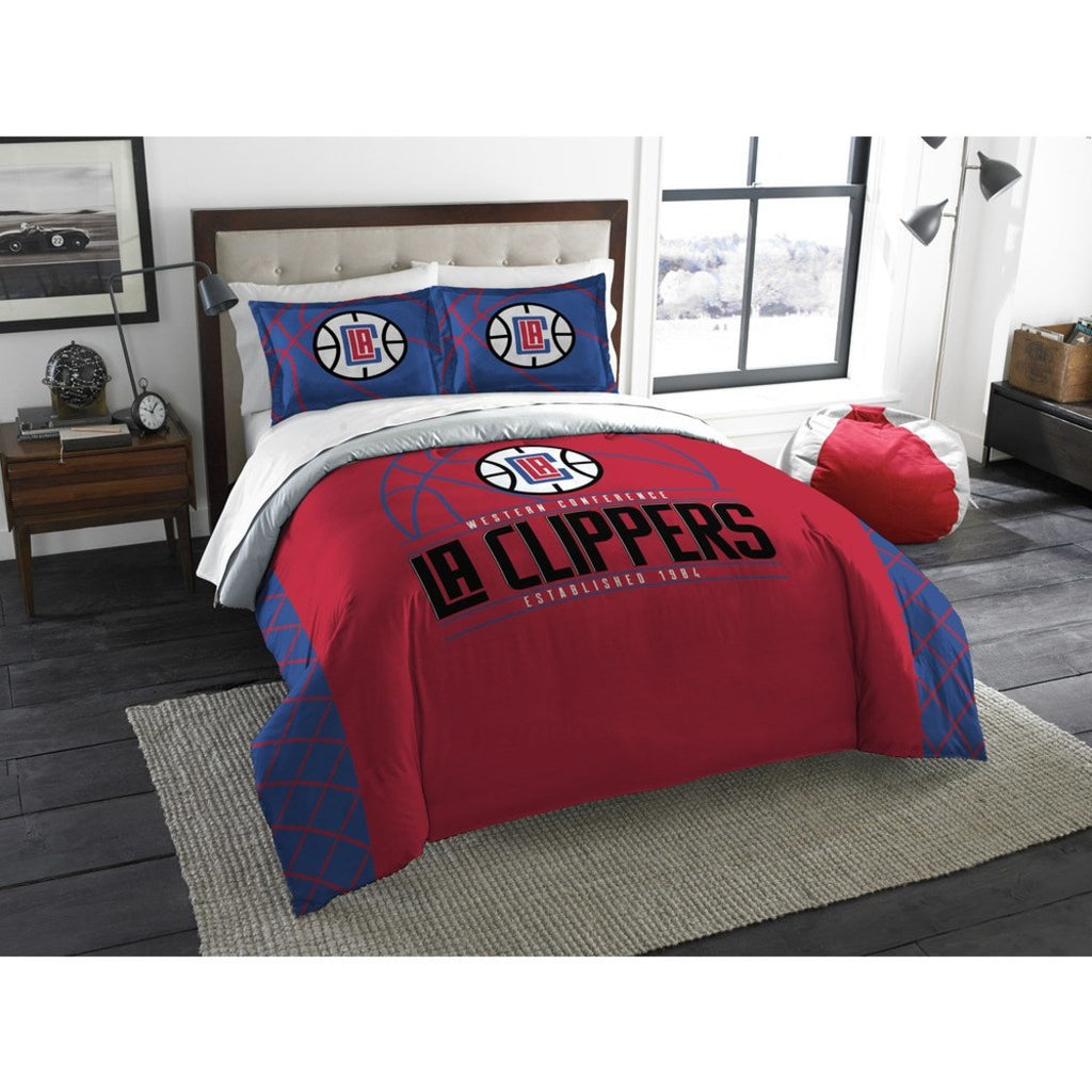 NBA Los Angeles Clippers Comforter Full Queen Set Sports Patterned Bedding Team Logo Fan Merchandise Team Spirit Basketball Themed National Basketball - Diamond Home USA