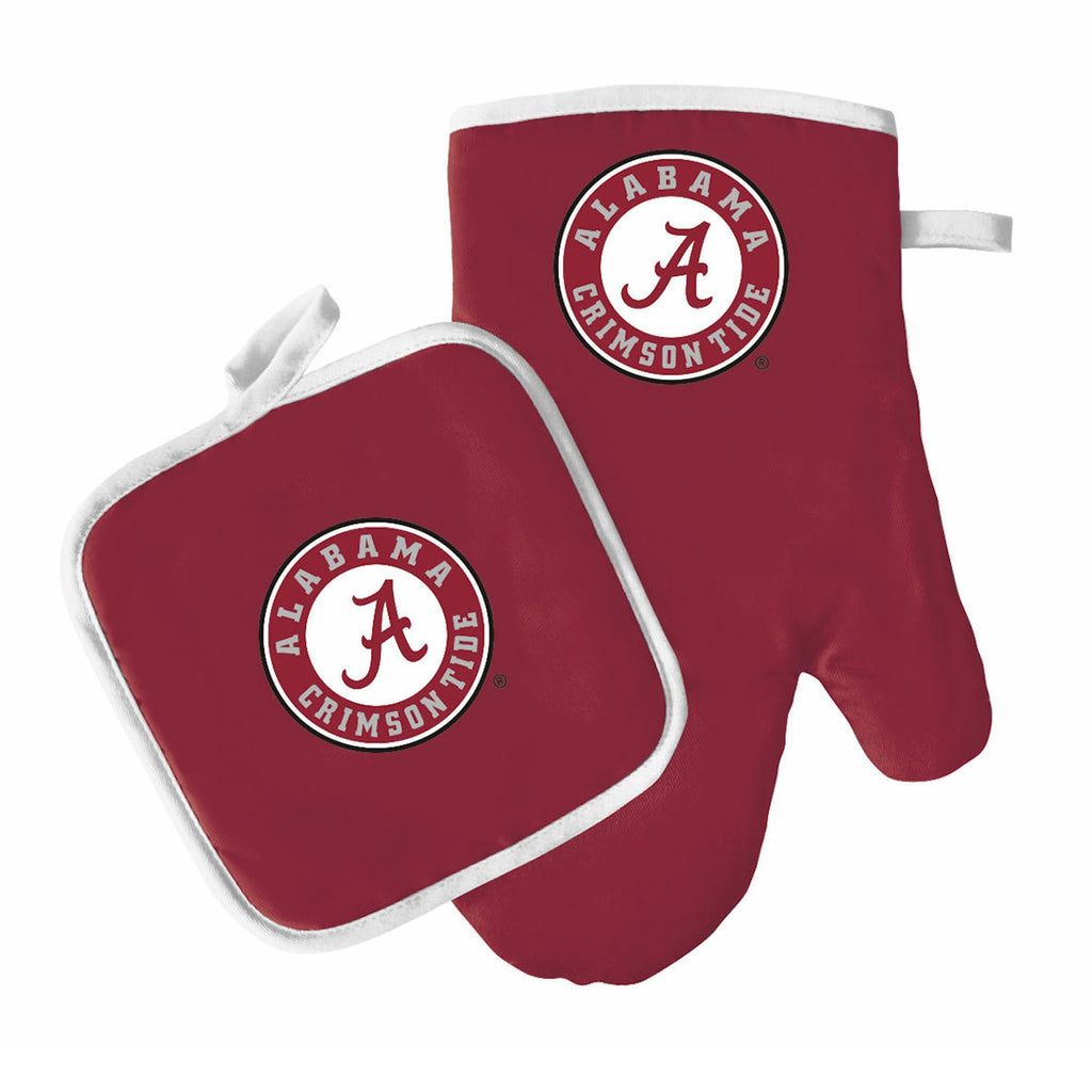 Alabama Crimson Tide Oven Mitt And Pot Holder - Diamond Home USA