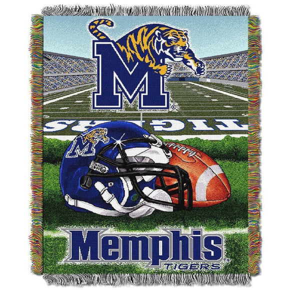 NCAA Throw Blanket College Theme Bedding Sports Patterned Collegiate Football Team Logo Fan Merchandise Athletic Team Spirit