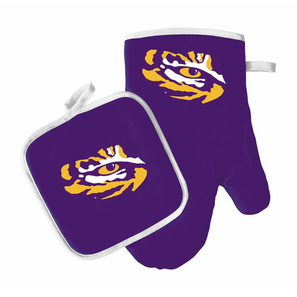 Lsu Tigers Oven Mitt And Pot Holder - Diamond Home USA