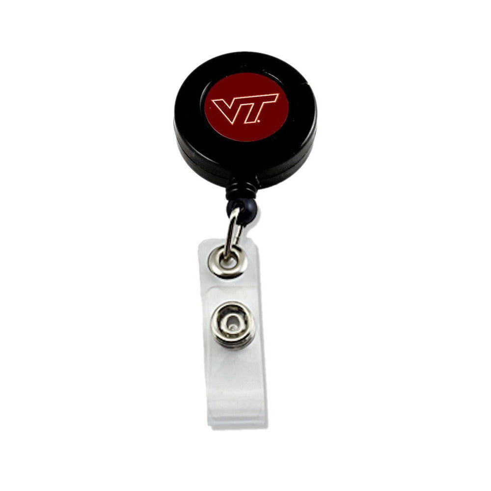 Virginia Tech Hokies Retractable Badge Reel Id Ticket Clip - Diamond Home USA