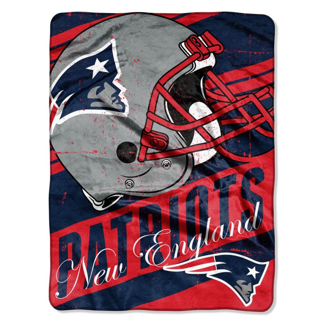 NFL Superbowl LI Champion New England Patriots Throw Blanket Pats Super Bowl 51 Football Team Spirit Winner NE Patriot Sports Logo Helmet Fan - Diamond Home USA