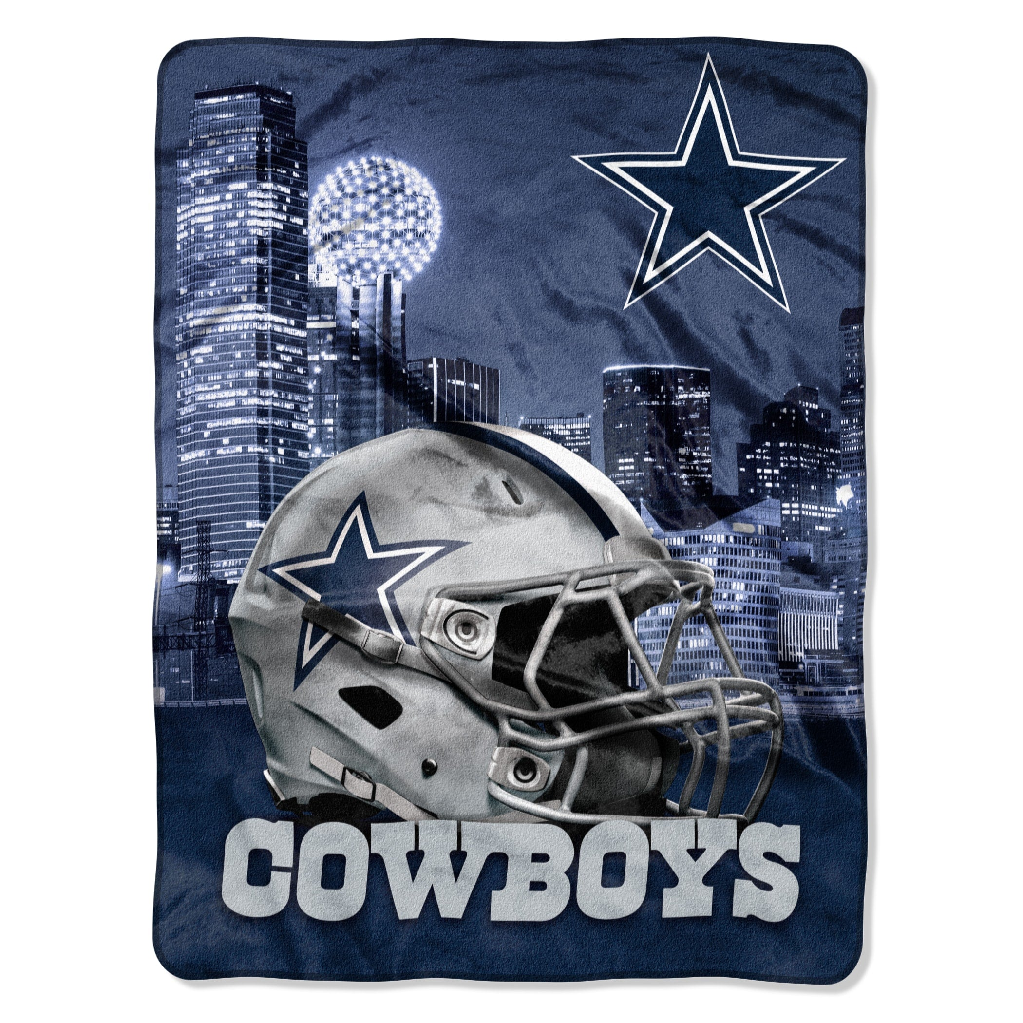 071 Cowboys Heritage Silk Touch Throw Multi Sports Collegiate Victorian Microfiber - Diamond Home USA