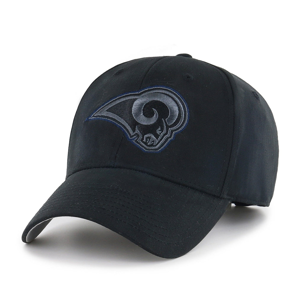 Los Angeles Rams Black Classic Adjustable Hat - Diamond Home USA