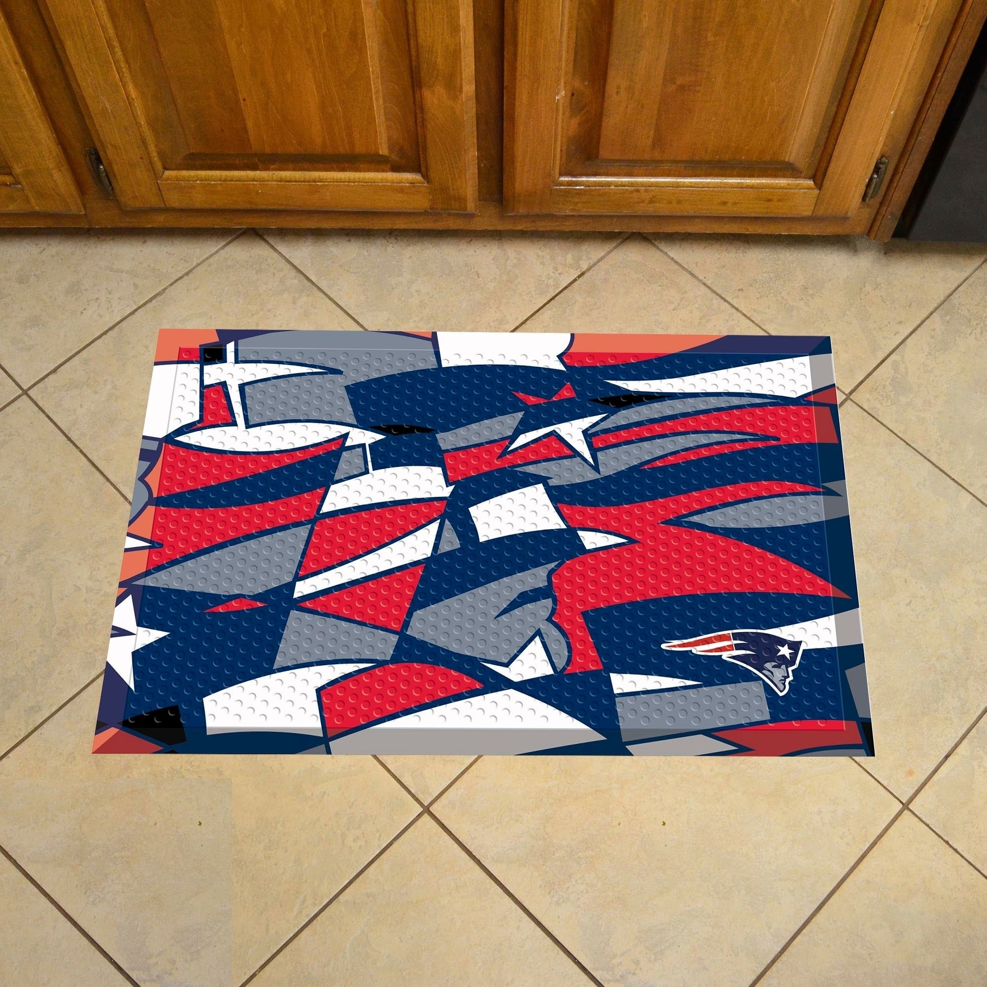 "New England Patriots Scraper Mat 19""x30"" - Diamond Home USA"