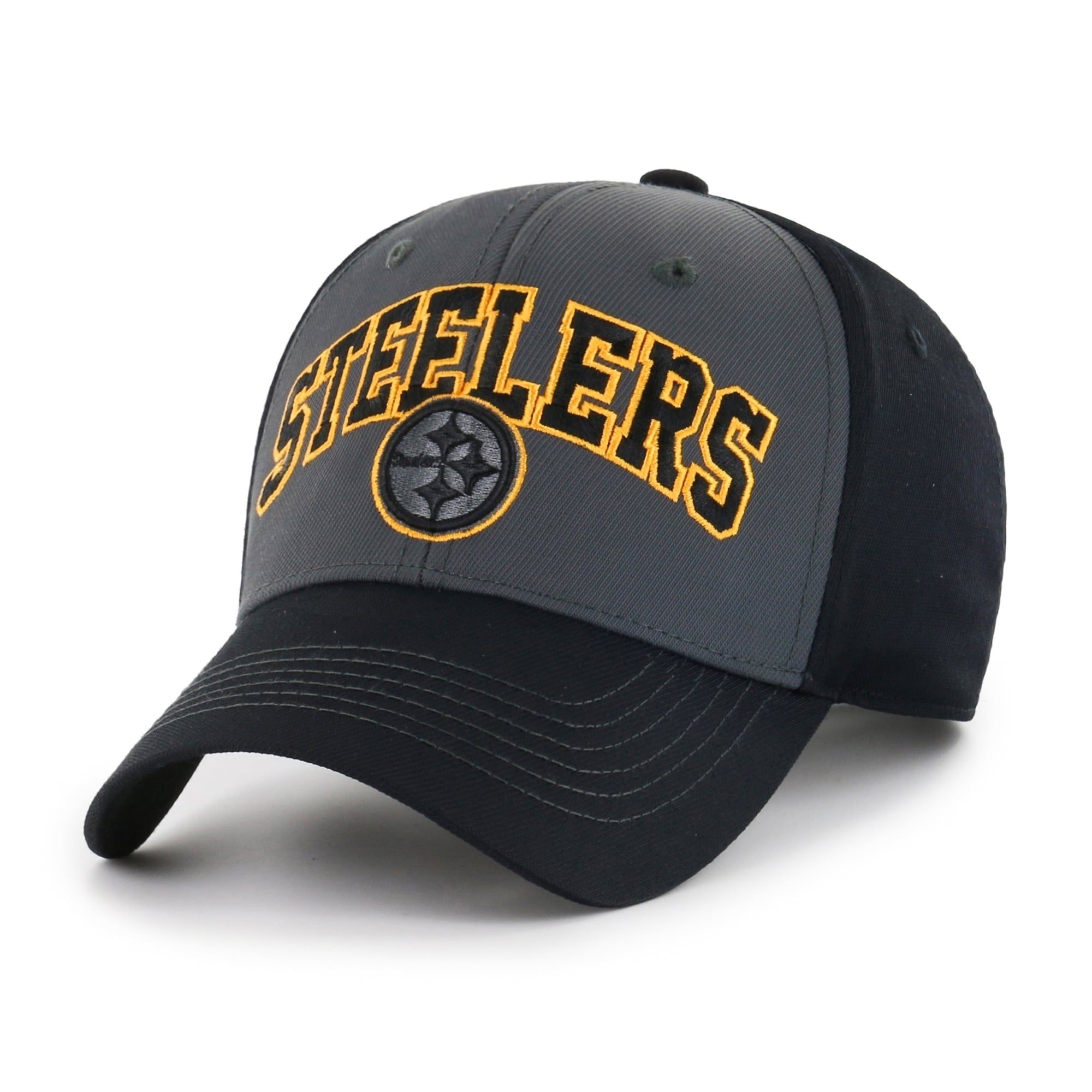 Pittsburgh Steelers Blackball Script Adjustable Hat - Diamond Home USA