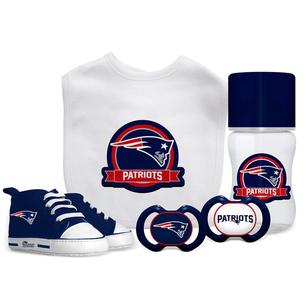 New England Patriots 5 Pc Infant Gift Set - Diamond Home USA