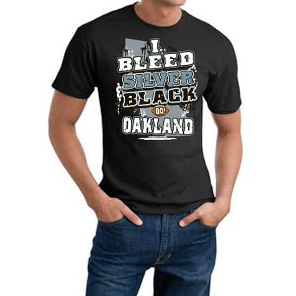 Mens NFL Raiders T Shirt Extra Large Double Football Sports Tee Football Themed Clothing I Bleed Slogan Team