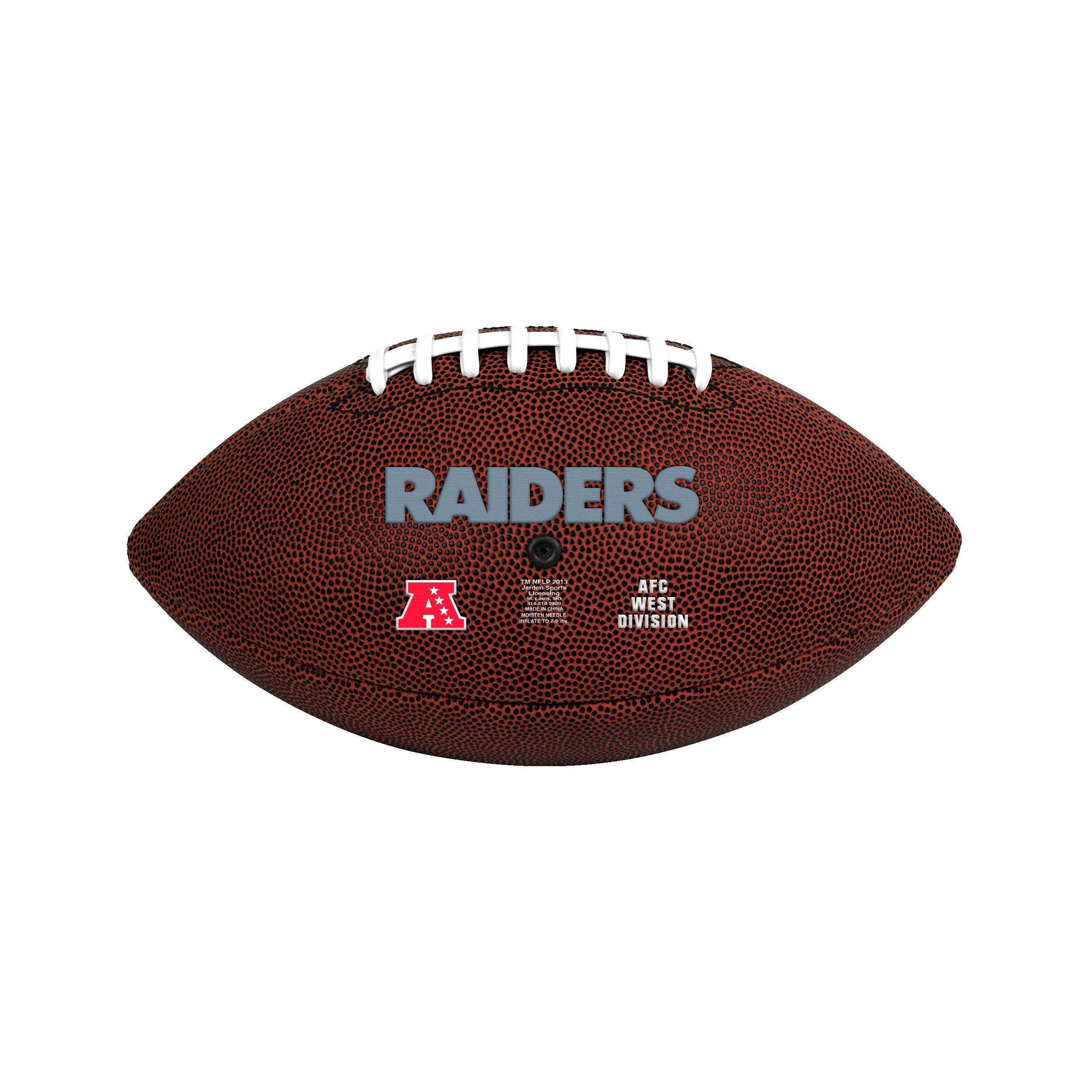 Oakland Raiders Official Size Game Time Football - Diamond Home USA