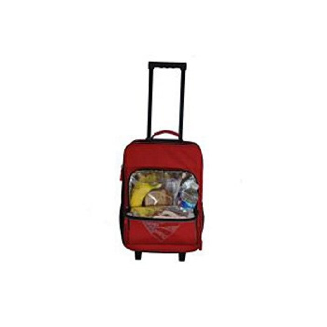 Girls Red American Flag Heart Carry Suitcase Diamond Hearts Upright Luggage - Diamond Home USA