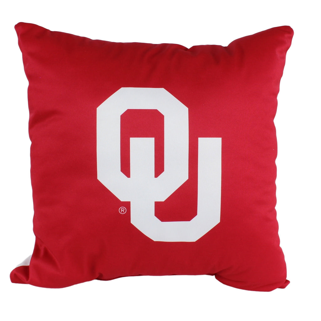 Oklahoma Sooners 16 Inch Decorative Throw Pillow Multi Color Sports Traditional Polyester One Single Reversible - Diamond Home USA