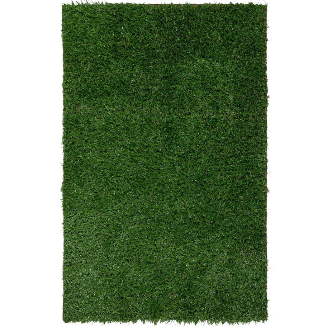 "3'11""x6'6"" Green Artificial Grass Printed Area Rug Indoor Outdoor Graphical Pattern Living Room Rectangle Carpet Solid Color Grass Themed Vibrant - Diamond Home USA"