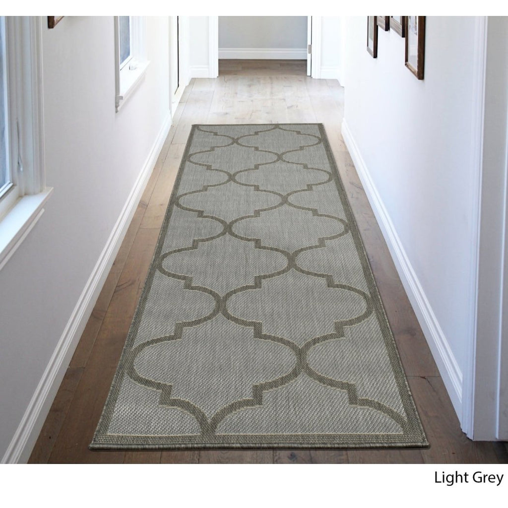 Trellis Runner Rug Rectangle Indoor Outdoor Moroccan Theme Hallway Carpet Geometric Lattice Pattern Carpeting Living Area