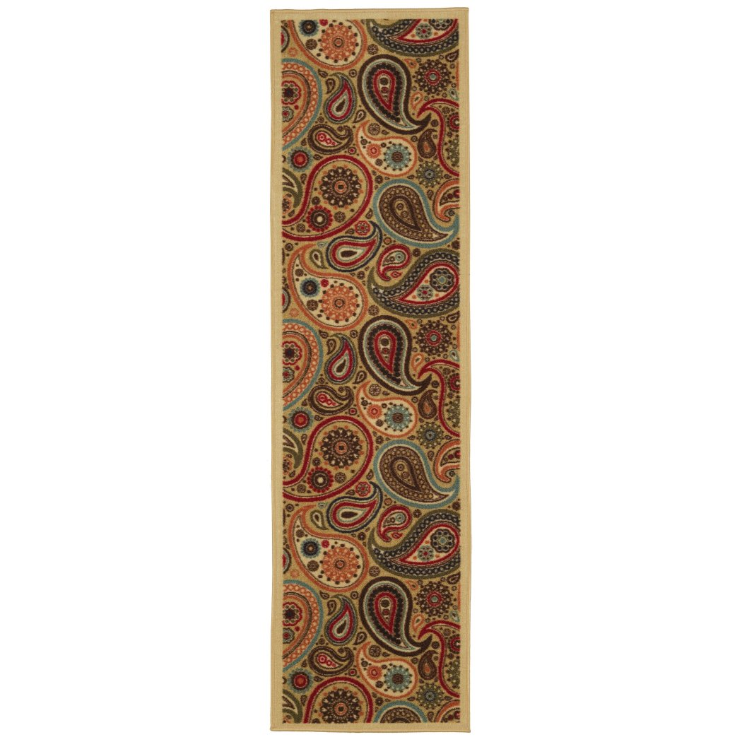 2'7ft X 10ft Southwest Runner Rug Colorful Paisley Swirls Narrow Carpet Tribal Southwestern Motifs Native Long Hallway Flooring Entraceway Skinny - Diamond Home USA