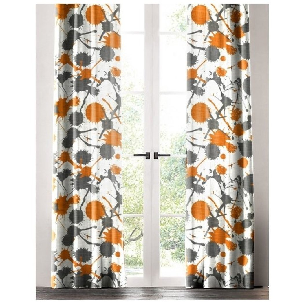 Paint Splatter Abstract Pattern Window Curtain Single Panel Geometric Artistic Splash Window Treatment