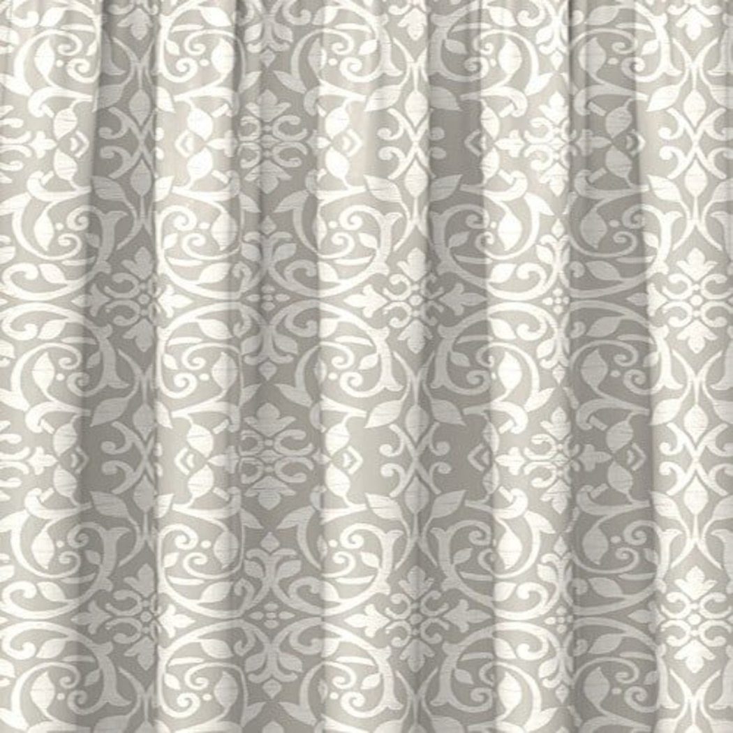 Medallion Window Curtain Set Damask Drape Floral Contemporary Baroque Distressed Drapery Aesthatic Casual Versatile