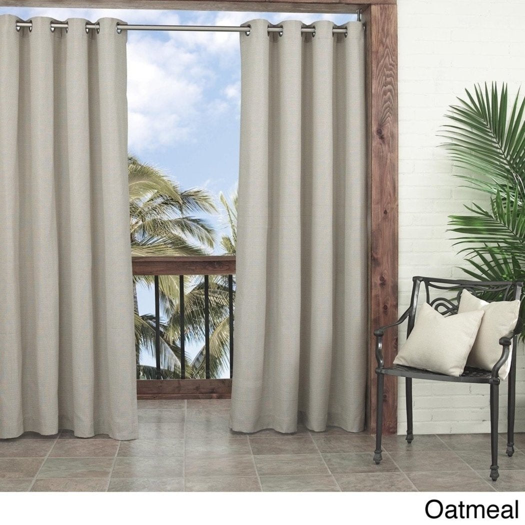 Gazebo Curtain Single Panel Pattern Rugby Outside Indoor Pergola Drapes Porch Deck Cabana