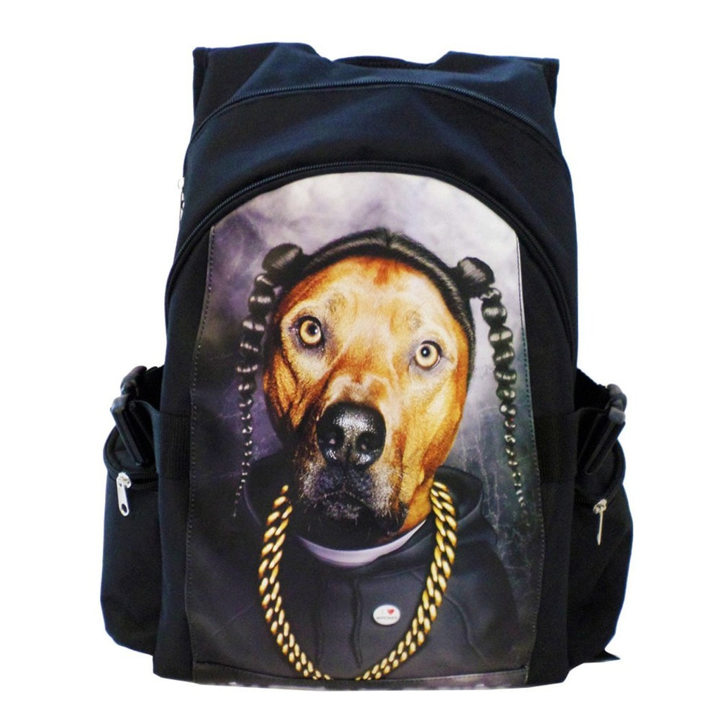 "Blck Gold Pets Rock ""Rap"" Kids Backpack 18"" Animal Pattern Adjustable Strap - Diamond Home USA"