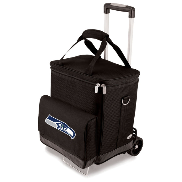 Black Seattle Seahawks Cellar with Trolley - Diamond Home USA