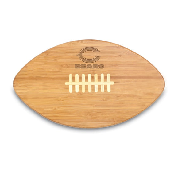 Picnic Time Chicago Bears Touchdown Pro! Cutting Board Brown Oval Wood - Diamond Home USA