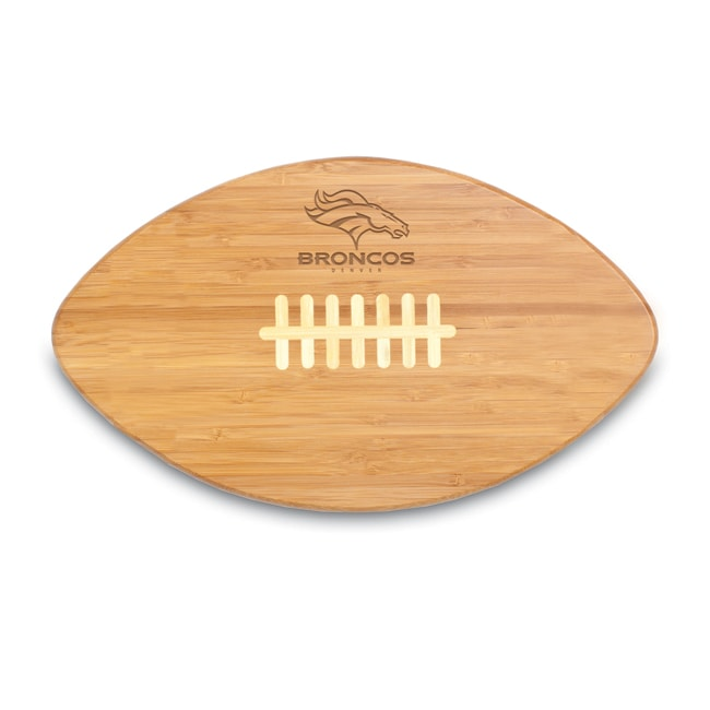 Picnic Time Denver Broncos Touchdown Pro! Cutting Board Brown Wood - Diamond Home USA