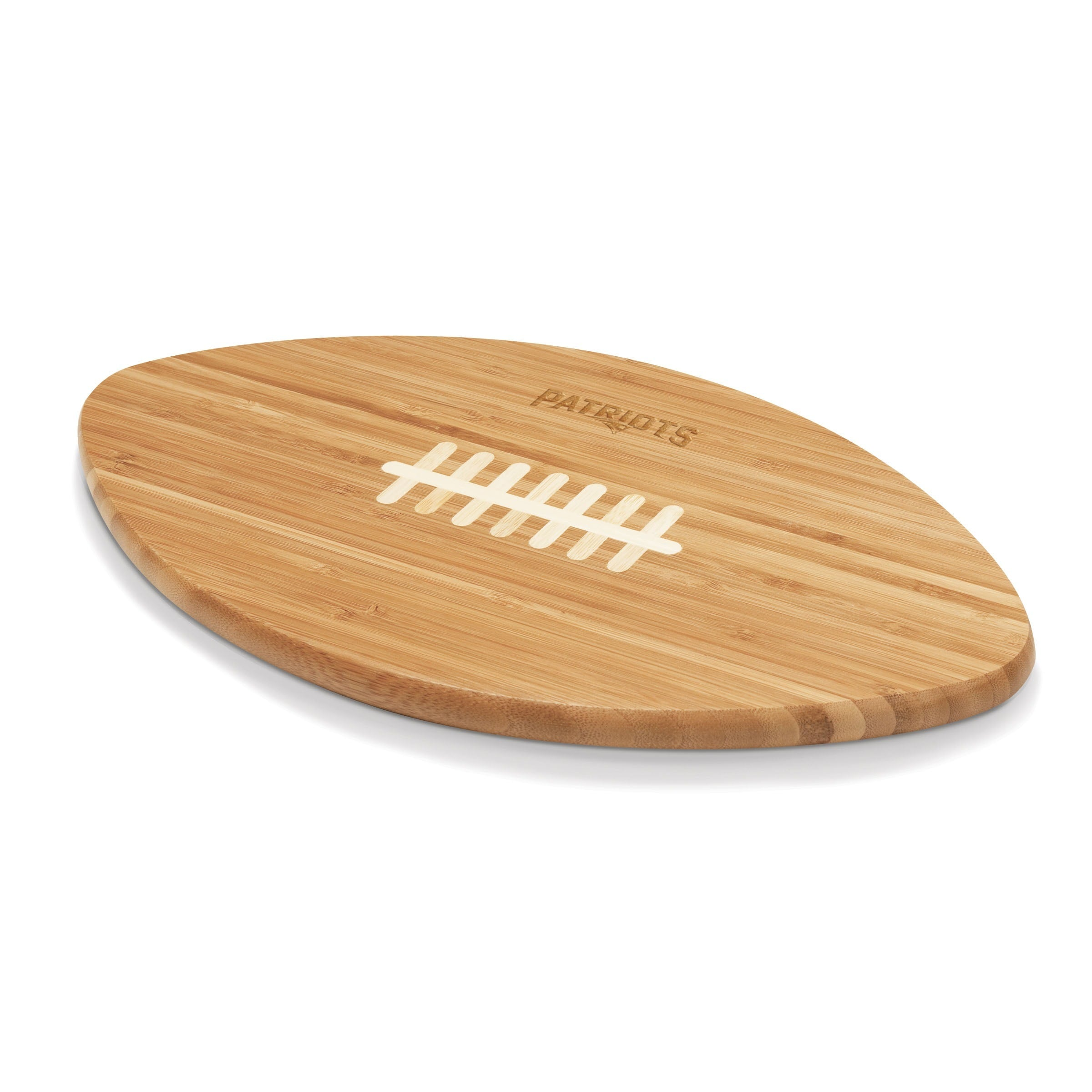 Picnic Time New England Patriots Touchdown Pro! Cutting Board Brown Wood - Diamond Home USA