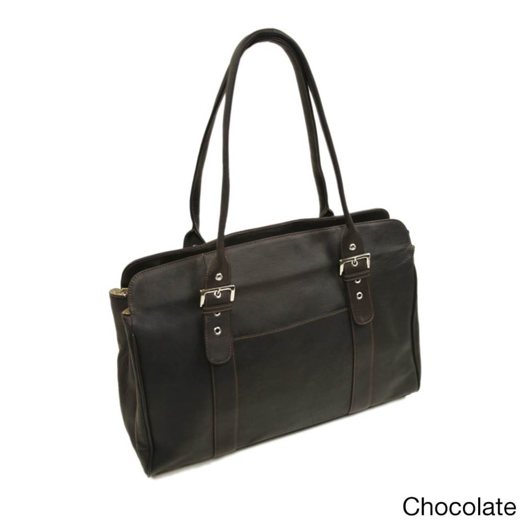 Piel Leather Working Tote Bag (Black