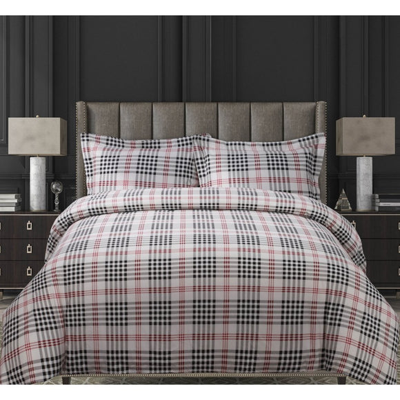 Vibrant Plaid/Cal Duvet Cover Set Checkered Cabin Themed Lodge Country Bedding Tartan Madras Squared Ljack Pattern