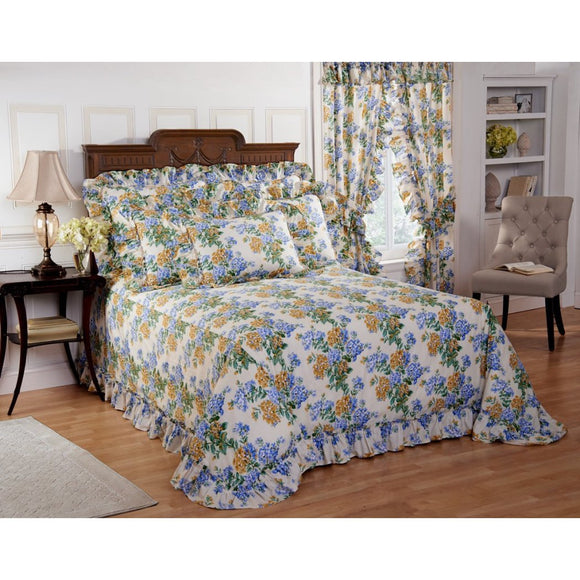 Oversized Floral Bedspread Floor Extra Long Off Bedding tra Wide Drops Over Edge Frame Drapes Down Sides Hangs Over
