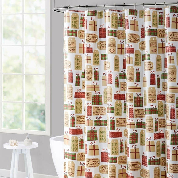 Polyester Shower Curtain Holiday Gifts 70