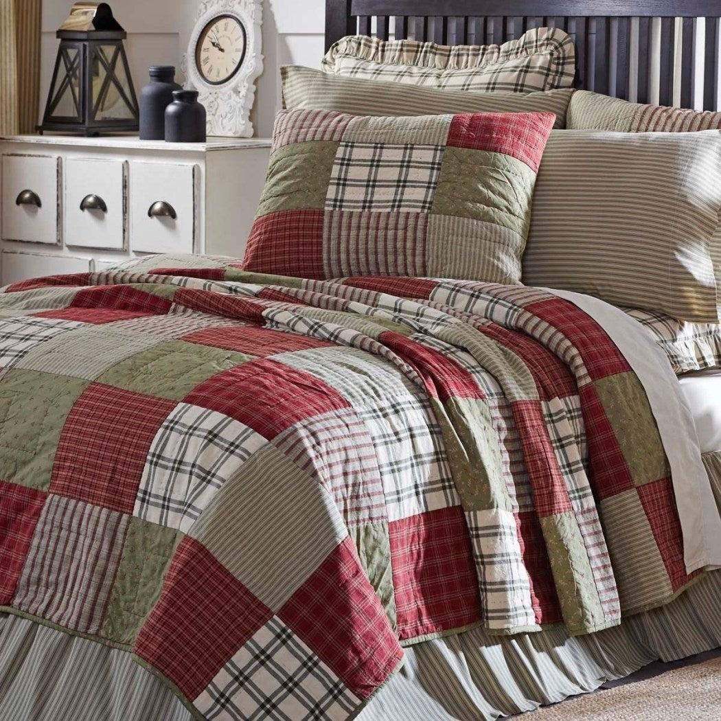 Block Patchwork Quilt Plaid Floral Checkered Tartan Ljack Lodge Gingham Shabby Chic