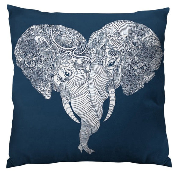 Punch Trunk Love Animal Throw Pillow Square Shape Elephant Graphic Pattern Accent Type Spot Clean Polyester Perfact Living Room