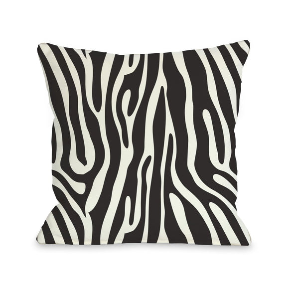 Zebra Stripes Pattern Square Throw Pillow Luxurious Chic Design Look Jungle African Safari Wild Animal Textured Sofa Cushion Bold