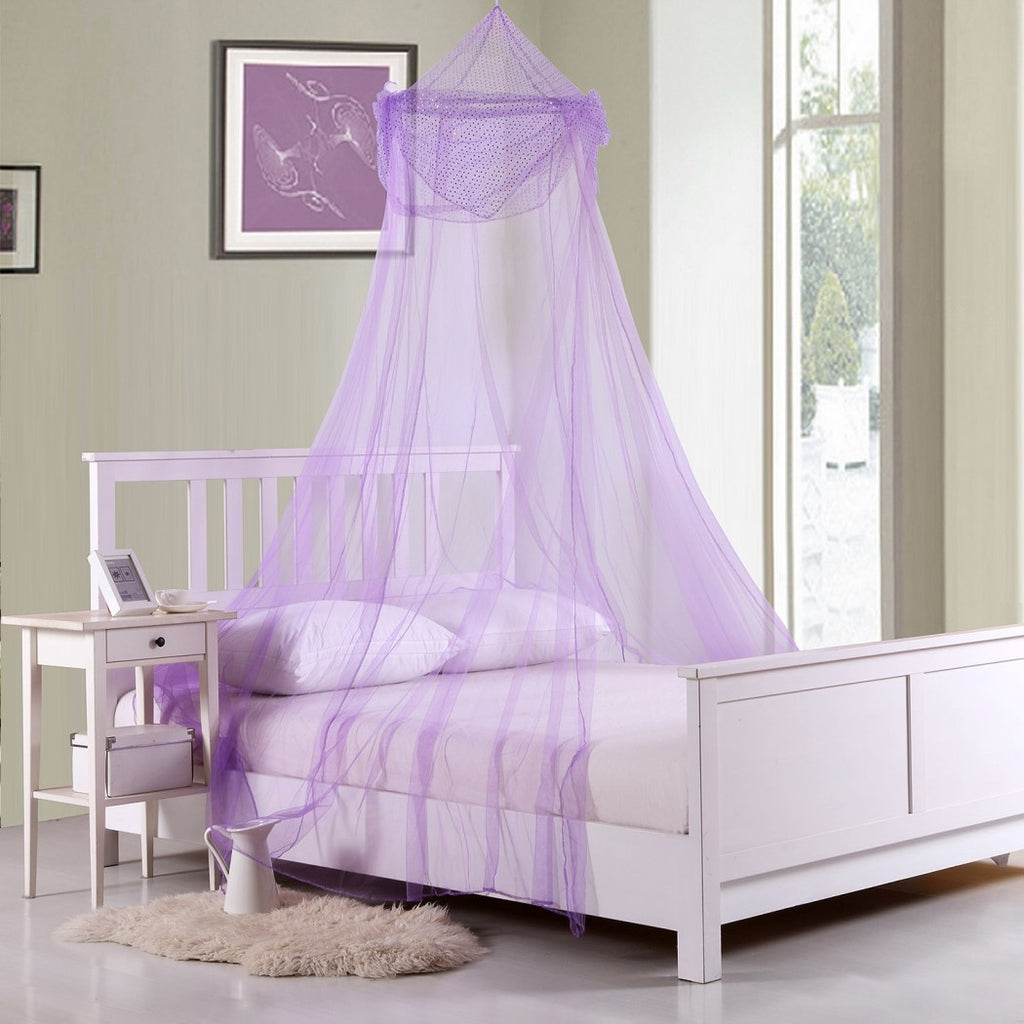 Childrens Girls Pretty Princess Canopy Bed Frame Draperies Over Hangin Diamond Home